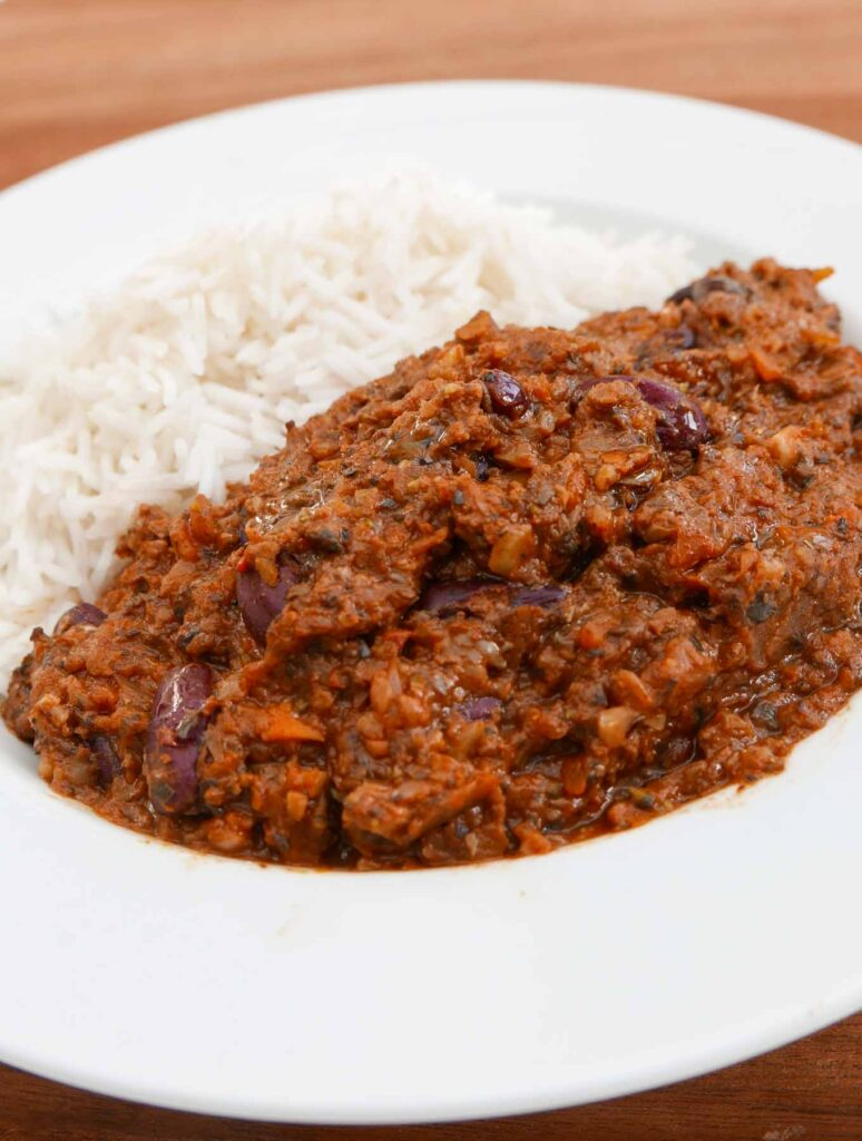 Everyday Chilli with basmati rice