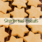 Shortbread Biscuits on a wooden board