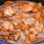 Slow Cooker Apricot Chicken Casserole in the pot
