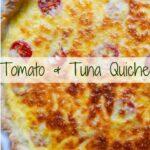 A whole Tuna and Tomato Quiche