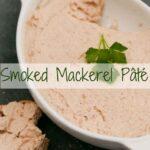Smoked Mackerel Pate in a white dish
