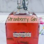 A bottle of Strawberry Gin