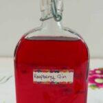 A bottle of Raspberry Gin