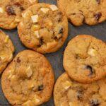 Chocolate Cherry Cookies on a slate tray.