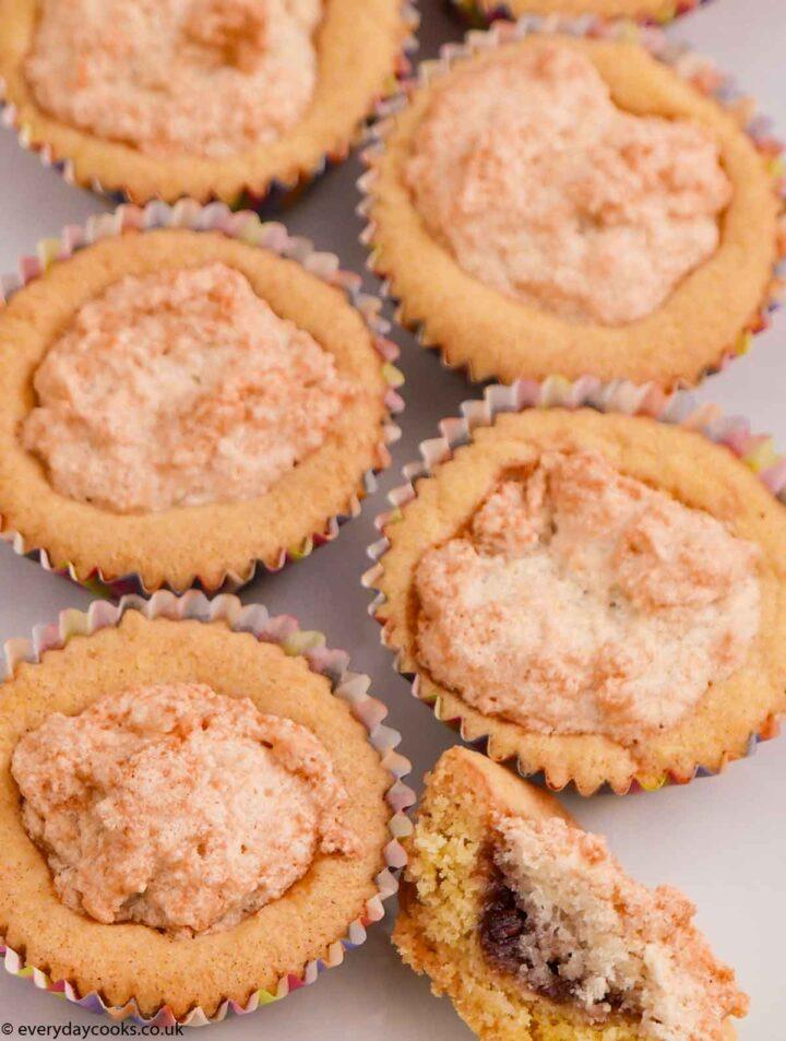 Almond Meringue Buns on a white plate
