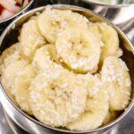 Banana Sambal in a small metal dish