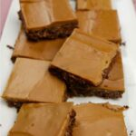 Mocha Squares on a white plate