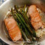 Pan-fried Lemon and Garlic Salmon with Asparagus