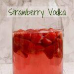 Strawberry Vodka maturing in a Kilner jar