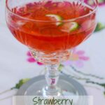 A glass of Strawberry Vodka & Tonic