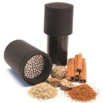 Microplane spice mill with whole and ground spices