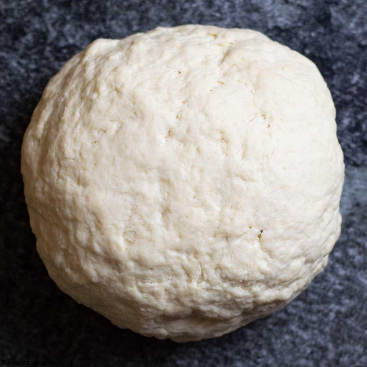 Ball of kneaded dough