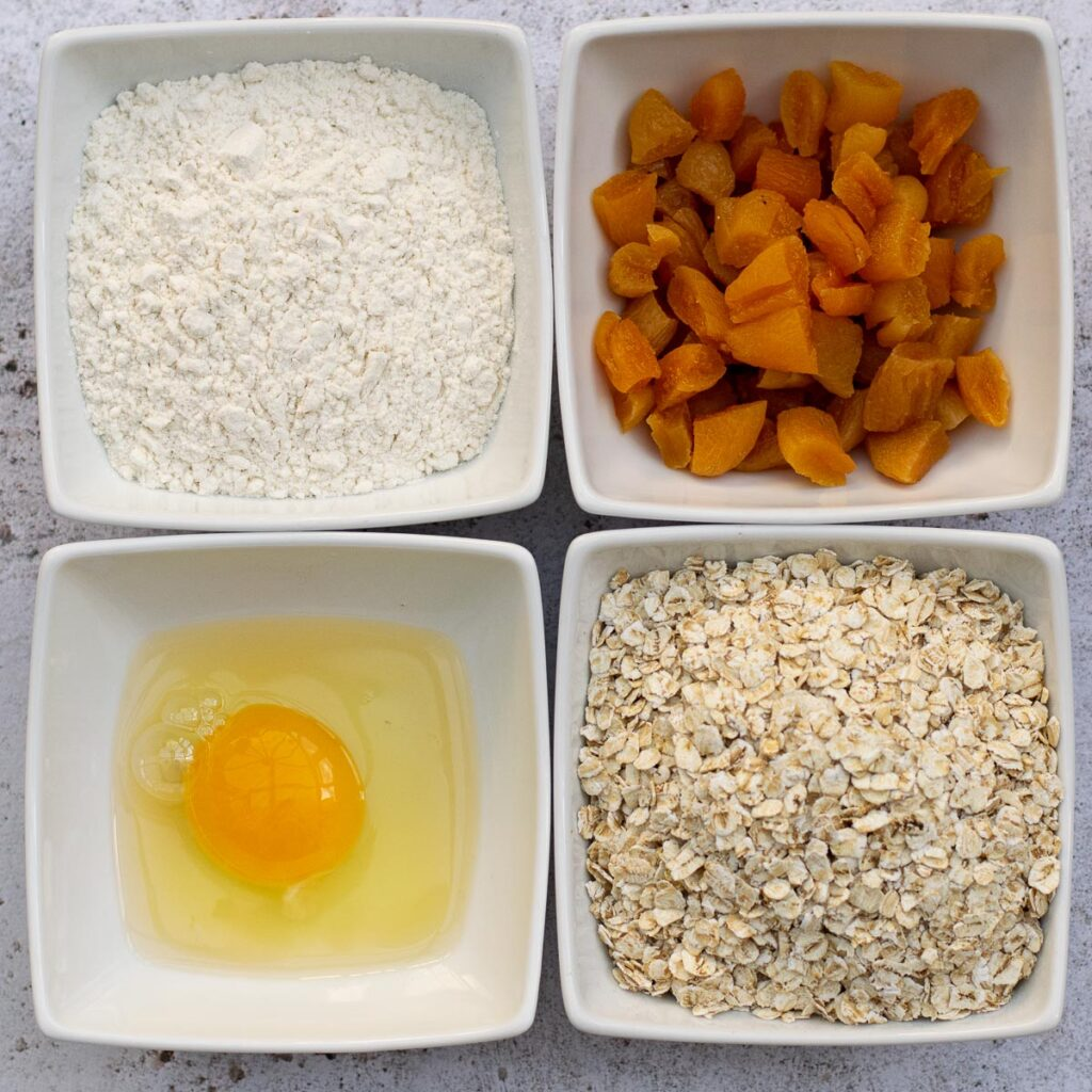 Ingredients in Apricot Oat Bars
