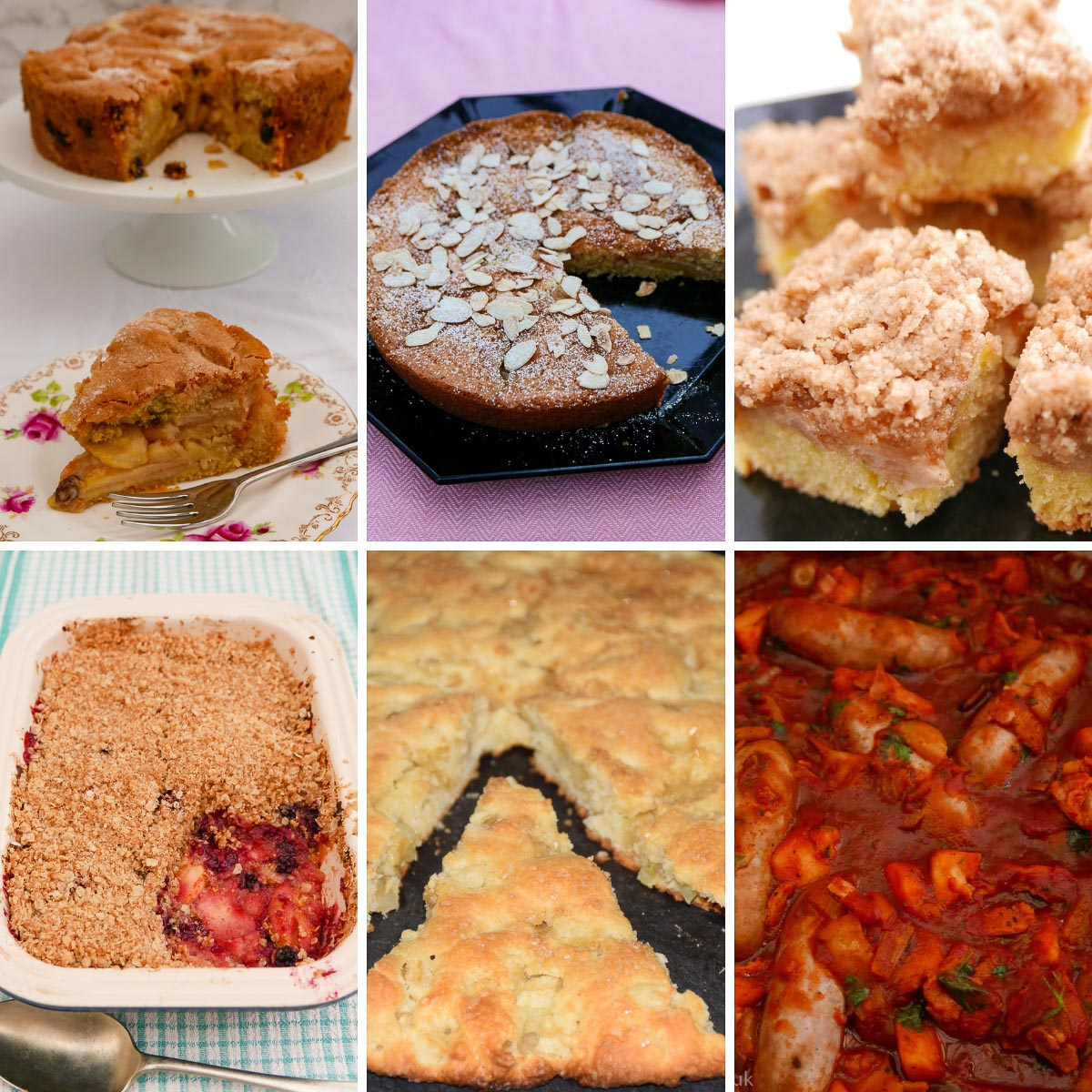 Cakes and puddings using apples or pears
